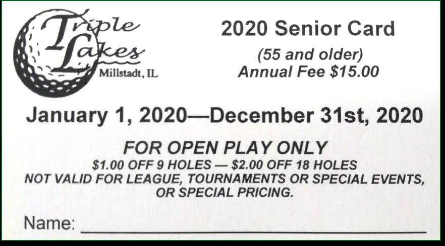 2020 senior card